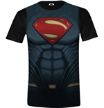 Batman V Superman - Superman Costume Full Printed Black (T-SHIRT Unisex )