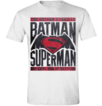 Batman V Superman - Logo Text White (T-SHIRT Unisex )