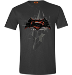 Batman V Superman - Cubic Logo Anthracite (unisex )