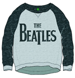 Beatles (THE) - Drop T Logo Grey (felpa Donna )