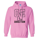 One Direction - Athletic Logo (felpa Con Cappuccio )