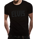 Elvis Presley - Black On Black Logo (T-SHIRT Unisex )