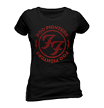 Foo Fighters - Logo Red Circle (T-SHIRT Donna )