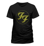 Foo Fighters - Logo In Gold Circle (T-SHIRT Unisex )