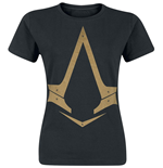 ASSASSIN'S Creed Syndicate - Gold Metallic Logo (T-SHIRT Donna )