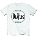 Beatles (THE) - Drum Skin White (T-SHIRT Unisex )