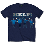 Beatles (THE) - Help Silver Logo Navy (T-SHIRT Unisex )