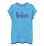Beatles (THE) - BURN-OUT Drop T Logo Blue (T-SHIRT Donna )