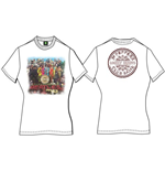 Beatles (THE) - Sgt Pepper White (T-SHIRT Donna )
