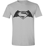 Batman V Superman - Logo Grey Melange (T-SHIRT Unisex )
