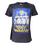 Space Invaders - Astronauts Black Shirt (unisex )