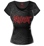 Slipknot - Acid Wash Logo Black Grey (T-SHIRT Donna )
