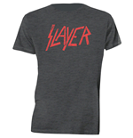 Slayer - Distressed Logo Grey (T-SHIRT Unisex )
