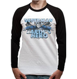 Superman - Earths Hero Baseball (T-SHIRT Unisex )