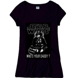 Star Wars - WHO'S Your Daddy Black (T-SHIRT Donna )