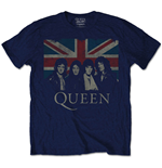 Queen - Union Jack Blue (T-SHIRT Unisex )
