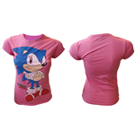 Sega - Pink Sonic The Hedgehog (T-SHIRT Donna )