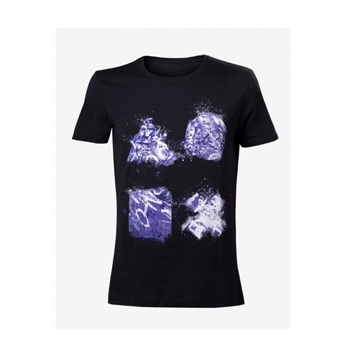 Playstation - Grafitti Buttons Artwork Black (T-SHIRT Unisex )