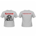 Rainbow - Long Live Rock & Roll Grey Front & Back Print (T-SHIRT Unisex )