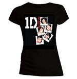 One Direction - Skinny Fit Photo Stack Black (T-SHIRT Donna )