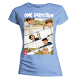 One Direction - Band Sliced Blue (T-SHIRT Donna )