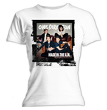 One Direction - Skinny Fit Made In The A.M. White (T-SHIRT Donna )
