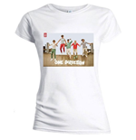 One Direction - Skinny Fit Band Jump White (T-SHIRT Donna )