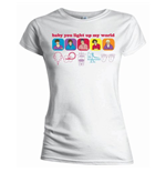 One Direction - Line Drawing (T-SHIRT Donna )