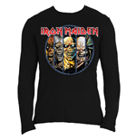 Iron Maiden - Eddie Evolution (T-SHIRT Manica Lunga Unisex )