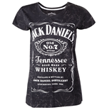 Jack DANIEL'S - Marble Wash EFFECT/LOG Printed (T-SHIRT Donna )