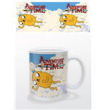 Tazza Adventure Time - Jake And Finn Flying