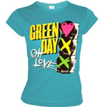Green Day - Red Light Love (T-SHIRT Donna )