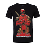 Deadpool - Deadpool Pose Black (T-SHIRT Unisex )