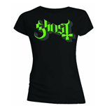 Ghost - GREEN/GREY Keyline Logo (T-SHIRT Donna )
