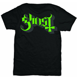 Ghost - GREEN/GREY Keyline Logo (T-SHIRT Unisex )