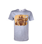 Destiny - Grey Melange Yellow Print (T-SHIRT Unisex )