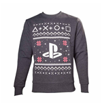 Felpa Playstation - Black Logo Christmas