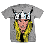 Marvel Comics - Thor Big Head Grigio (T-SHIRT Unisex )