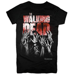 T-shirt Walking Dead - Hands Blood Splatter Girls