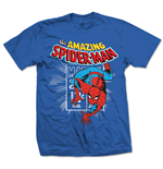 Marvel Comics - Spidey Stamp Blu (T-SHIRT Unisex )