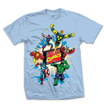 Marvel Comics - Marvel Montage 4 Blu (T-SHIRT Unisex )