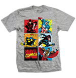 T-shirt Marvel Comics - Marvel Montage Grigio