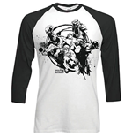 Marvel Comics - RAGLAN/BASEBALL Mono Chaos Black White (T-SHIRT Unisex )