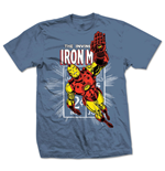 Marvel Comics - Iron Man Stamp Blu (T-SHIRT Unisex )