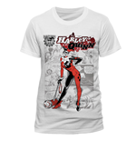Dc Comics - Harley Quinn - Comic White Design (T-SHIRT Unisex )