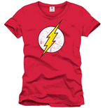 Dc Comics - Flash - Cracked Logo Red (T-SHIRT Unisex )