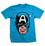 Marvel Comics - Cap America Big Head Blu (T-SHIRT Unisex )
