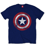 Captain America - Distressed Shield (T-SHIRT Unisex )