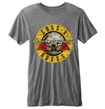 Guns N' Roses - BURN-OUT Bullet Logo Grey (T-SHIRT Unisex )