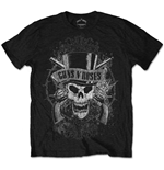 Guns N' Roses - Faded Skull Black (unisex )